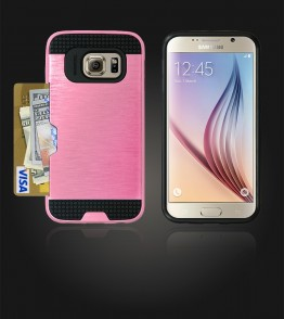 Metal Credit Case Galaxy S6 - Pink