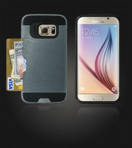Metal Credit Case Galaxy S6 - Blue
