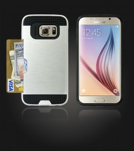 Metal Credit Case Galaxy S6 - Silver