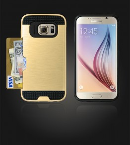 Metal Credit Case Galaxy S6 - Gold