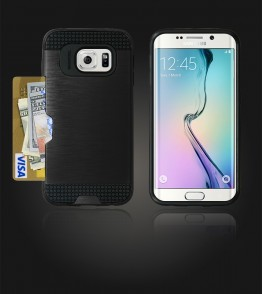 Metal Credit Case Galaxy S6 edge - Black