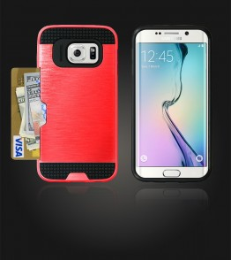 Metal Credit Case Galaxy S6 edge - Red