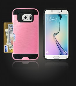 Metal Credit Case Galaxy S6 edge - Pink