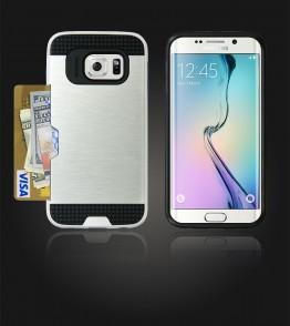 Metal Credit Case Galaxy S6 edge - Silver