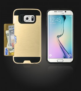 Metal Credit Case Galaxy S6 edge - Gold