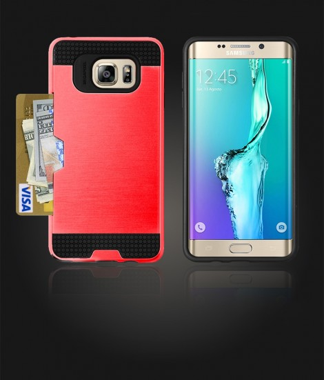 Metal Credit Case Galaxy S6 edge Plus - Red