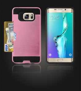 Metal Credit Case Galaxy S6 edge Plus - Pink