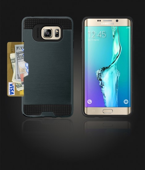 Metal Credit Case Galaxy S6 edge Plus - Blue