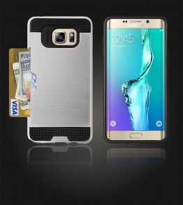 Metal Credit Case Galaxy S6 edge Plus - Silver