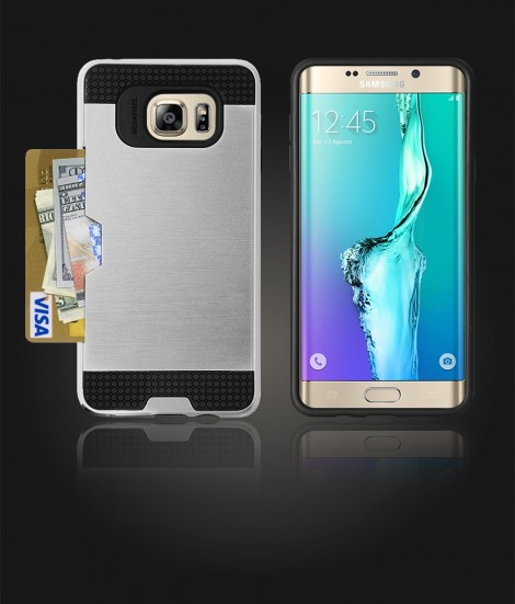 Metal Credit Case Galaxy S6 edge Plus - Silver