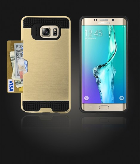 Metal Credit Case Galaxy S6 edge Plus - Gold