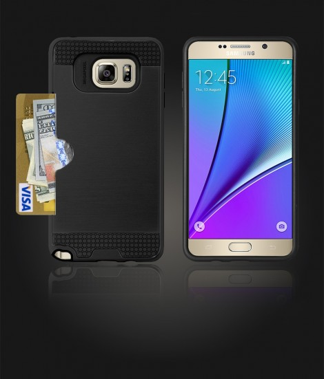 Metal Credit Case Galaxy Note 5 - Black