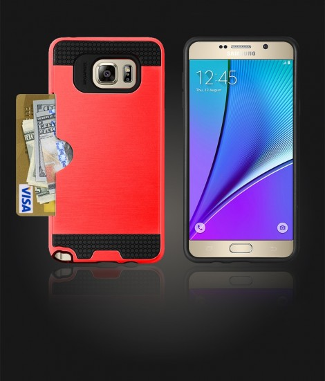 Metal Credit Case Galaxy Note 5 - Red