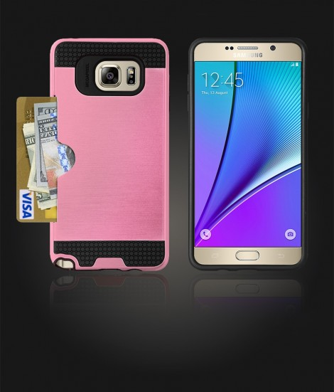 Metal Credit Case Galaxy Note 5 - Pink