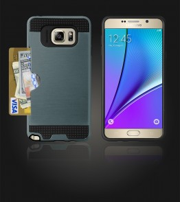 Metal Credit Case Galaxy Note 5 - Blue