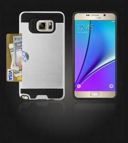 Metal Credit Case Galaxy Note 5 - Silver