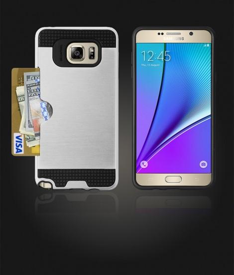 Metal Credit Case Galaxy Note 5 - Silver