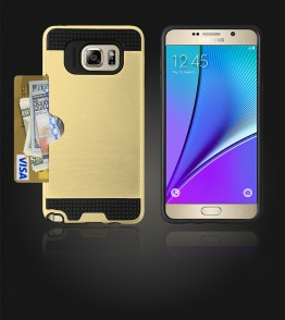 Metal Credit Case Galaxy Note 5 - Gold