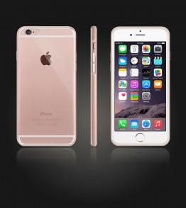 Detachable Bumper TPU Clear case iphone 6/6S - Rose Gold