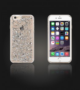 SiliTough diamond case for iPhone 6 Plus - White
