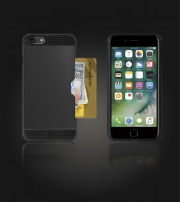 Metal Credit Case iphone 7 - Black