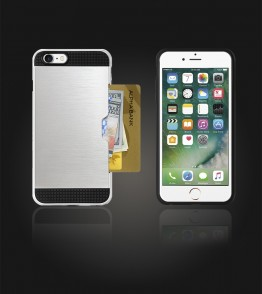 Metal Credit Case iphone 7 - Silver