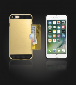Metal Credit Case iphone 7 - Gold