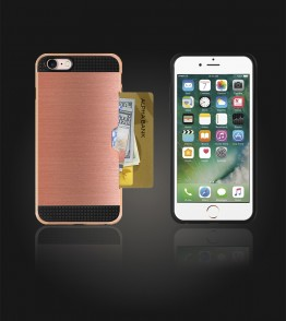 Metal Credit Case iphone 7 - Rose Gold