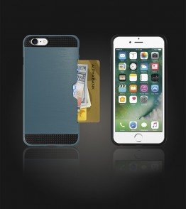 Metal Credit Case iphone 7 - Blue