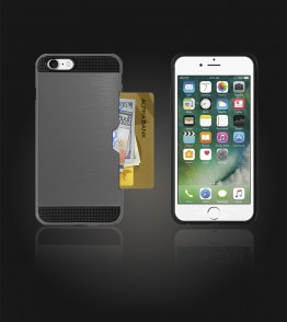 Metal Credit Case iphone 7 - Gray