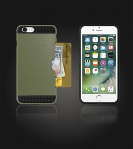 Metal Credit Case iphone 7 - Dark Green