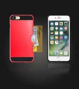 Metal Credit Case iphone 7 - Red