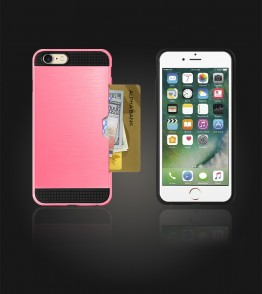 Metal Credit Case iphone 7 - Pink