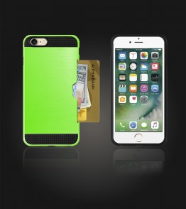 Metal Credit Case iphone 7 - Green