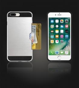 Metal Credit Case iphone 7 Plus - Silver