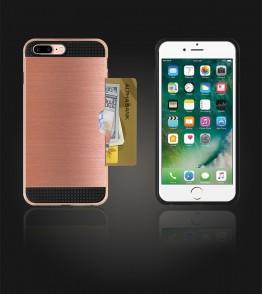 Metal Credit Case iphone 7 Plus - Rose Gold