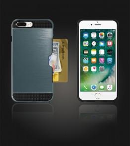 Metal Credit Case iphone 7 Plus - Blue