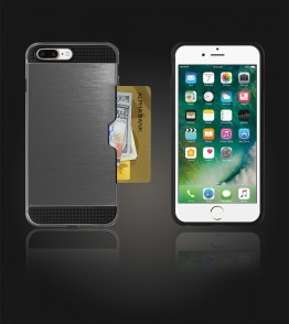 Metal Credit Case iphone 7 Plus - Gray