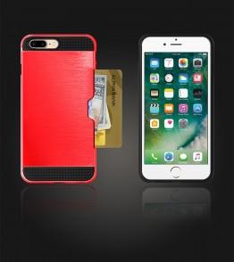 Metal Credit Case iphone 7 Plus - Red