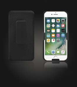 Holster Combo Case with Kick-Stand & Belt Clip iPhone 7 - Black