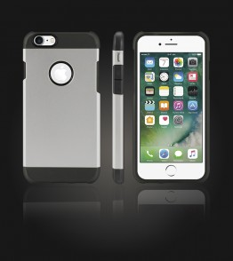 Duo Protection Case iphone 7 - Silver