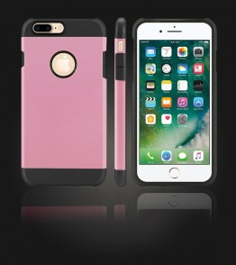 Duo Protection Case iphone 7 Plus - Pink