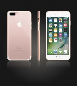 Bumper TPU Clear case iphone 7 Plus - Rose Gold
