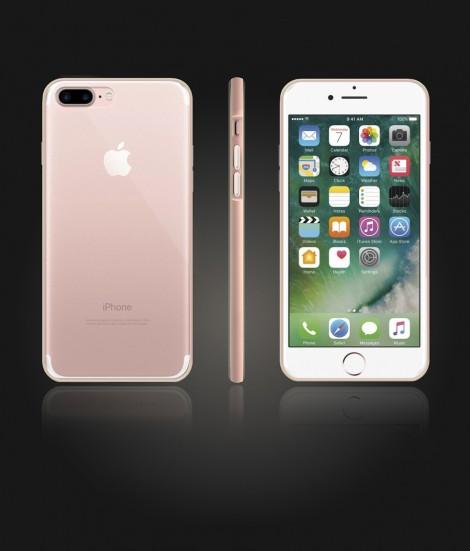 Bumper TPU Clear case iphone 7 Plus - Rose Gold