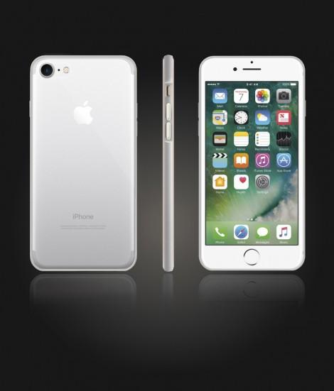Bumper TPU Clear case iphone 7 - Silver