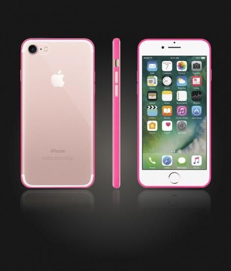 Bumper TPU Clear case iphone 7 - Pink
