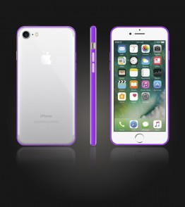 Bumper TPU Clear case iphone 7 - Purple