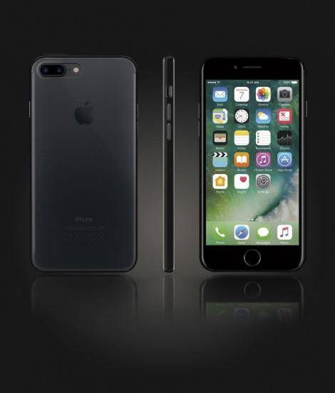 Bumper TPU Clear case iphone 7 Plus - Black