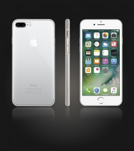 Bumper TPU Clear case iphone 7 Plus - Silver