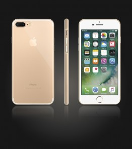 Bumper TPU Clear case iphone 7 Plus - Gold